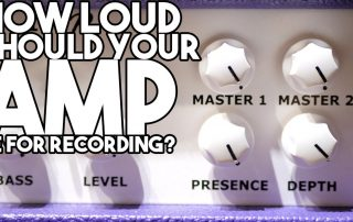 How loud should your amp be when recording