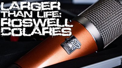 Larger than life Microphone Roswell Colares