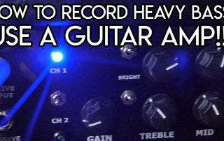 Recording Bass how to with guitar amp