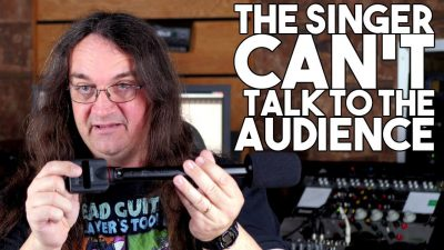 The Singer CAN'T TALK to the AUDIENCE?