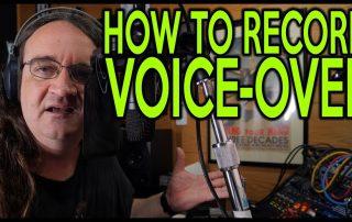 Voice over recording tutorial