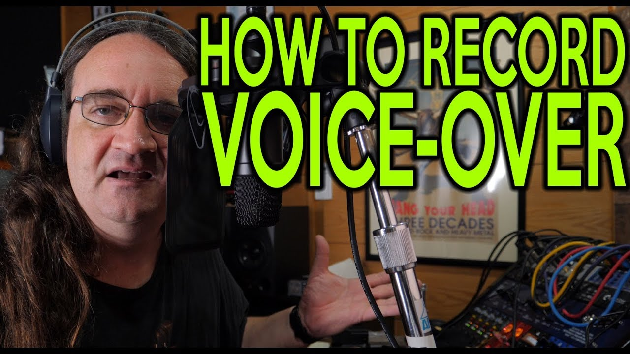 Voice over recording tutorial