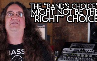 band choice the right choice- Audio Engineer
