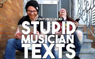 youtubers read stupid musician texts